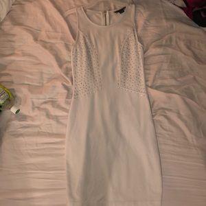 White dazzled bodycon dress!